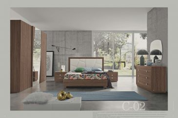 Bedroom MOBILPIU CHANTAL NOCE C-02 Series