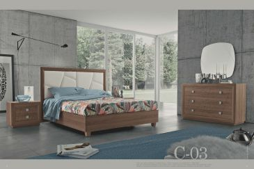 Bedroom MOBILPIU CHANTAL NOCE C-03 Series