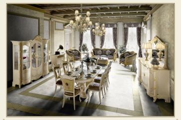 Dining Room MOBILPIU LUXURY MADAME ROYAL Series